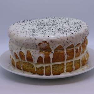 Lemon and poppy seed drizzle